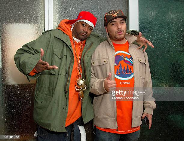 Rapper Ghostface Killah appears on MTV's Sucker Free with DJ Cipha Sounds at MTV Studios in New York City's Times Square on November 28 2007 The air...
