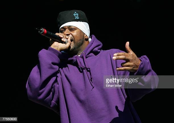 Rapper Ghostface Killah performs during the Vegoose music festival at Sam Boyd Stadium's Star Nursery Field October 28 2007 in Las Vegas Nevada