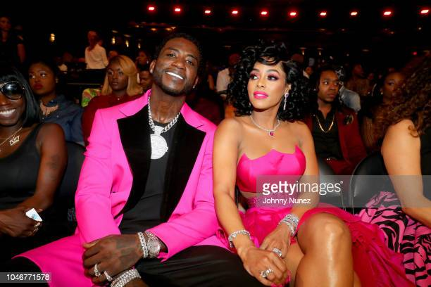 Rapper Gucci Mane and Keyshia Ka'Oir seen backstage during the BET Hip Hop Awards 2018 at Fillmore Miami Beach on October 6 2018 in Miami Beach...
