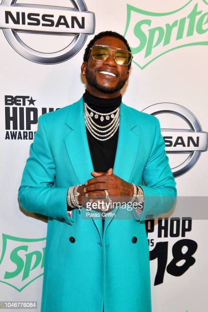 Rapper Gucci Mane arrives at the BET Hip Hop Awards 2018 at Fillmore Miami Beach on October 6 2018 in Miami Beach Florida