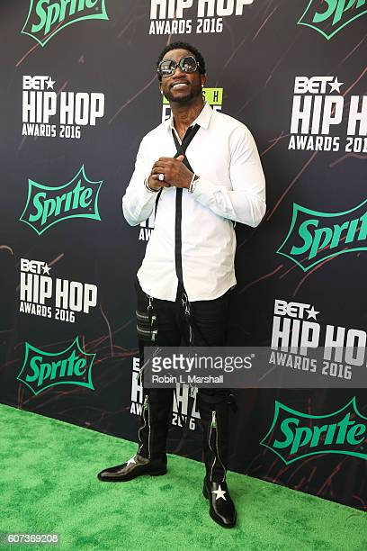 Rapper Gucci Mane attends the BET Hip Hop Awards at Cobb Energy Performing Arts Center on September 17 2016 in Atlanta Georgia