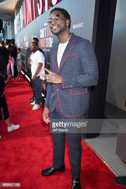 Rapper Gucci Mane attends the Los Angeles Premiere of Apple Music's CAN'T STOP WON'T STOP A BAD BOY STORY at The WGA Theater on June 21 2017 in...