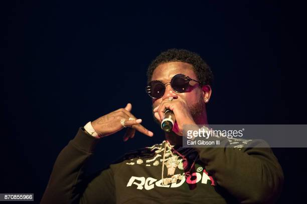 Rapper Gucci Mane performs at ComplexCon 2017 on November 5 2017 in Long Beach California