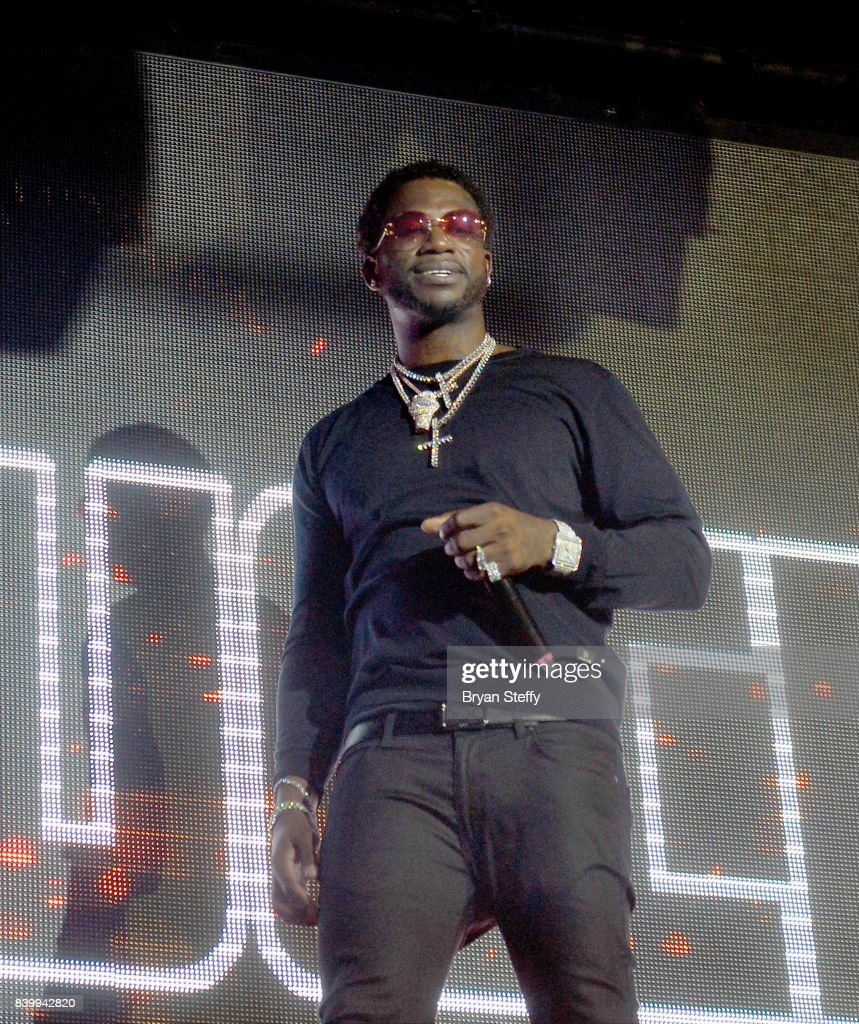 Rapper Gucci Mane performs during a post-fight party at Tao Nightclub at The Venetian Las Vegas on August 26, 2017 in Las Vegas, Nevada.
