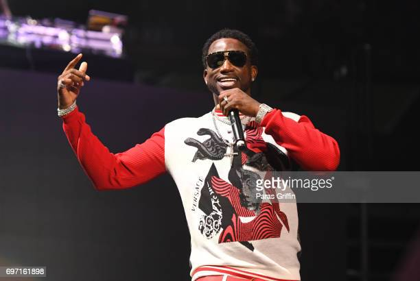 Rapper Gucci Mane performs onstage at Hot 1079 Birthday Bash ATL Pop Up Edition at Philips Arena on June 17 2017 in Atlanta Georgia
