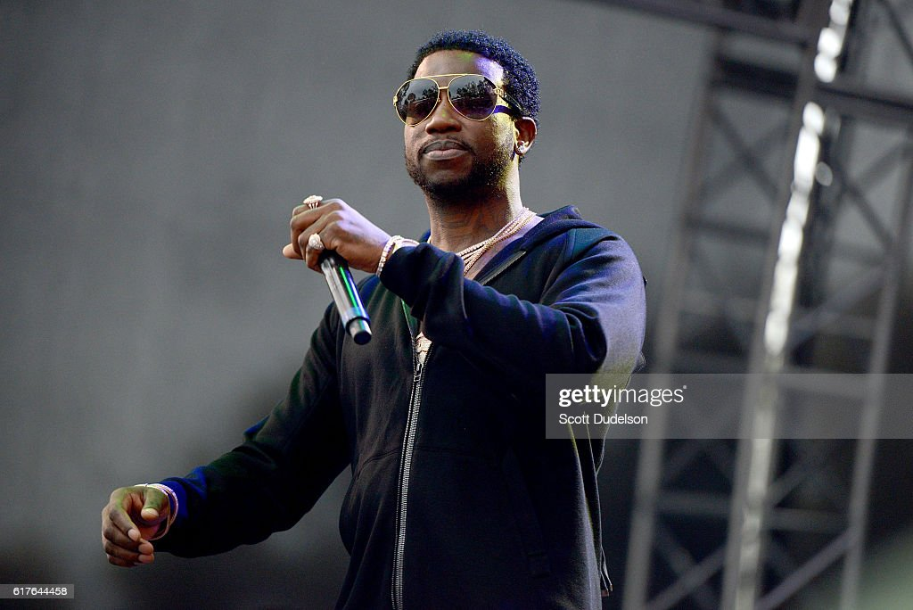 Rapper Gucci Mane performs onstage during the Beach Goth Festival at The Observatory on October 23, 2016 in Santa Ana, California.