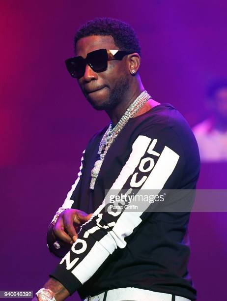 Rapper Gucci Mane performs onstage in concert during V103 Live Pop Up Concert at Philips Arena on March 31 2018 in Atlanta Georgia