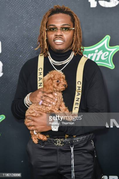 Rapper Gunna arrives to the 2019 BET Hip Hop Awards on October 05 2019 in Atlanta Georgia