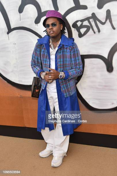 Rapper Gunna attends the Louis Vuitton Menswear Fall/Winter 2019/2020 show as part of Paris Fashion Week on January 17 2019 in Paris France