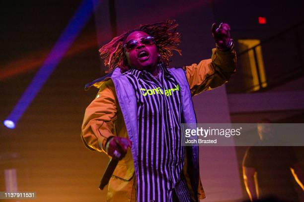 Rapper Gunna performs at the Buku Music Art Project at Mardi Gras World on March 23 2019 in New Orleans Louisiana