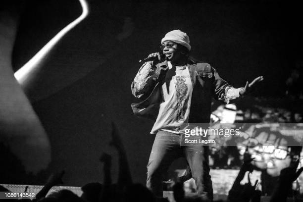 Rapper Gunna performs during his Astroworld Tour at Little Caesars Arena on December 5 2018 in Detroit Michigan