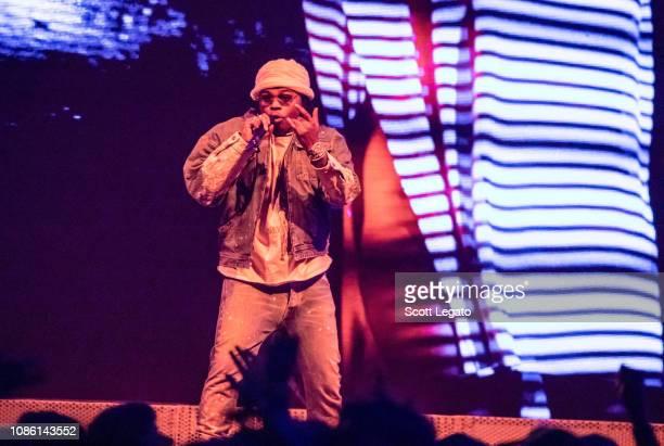 DETROIT MI DECEMBER 05 Rapper Gunna performs during his Astroworld Tour at Little Caesars Arena on December 5 2018 in Detroit Michigan