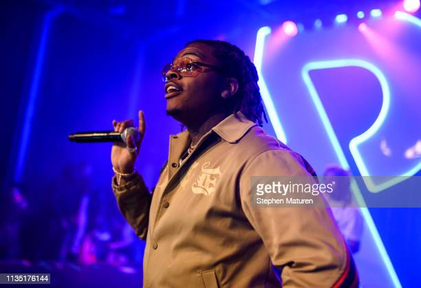 Rapper Gunna performs during Spotify's RapCaviar Live at Varsity Theater on April 5 2019 in Minneapolis Minnesota
