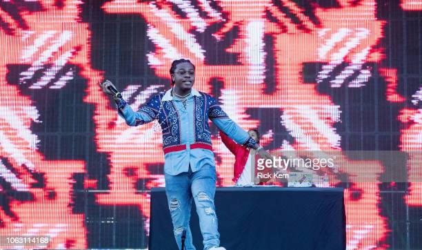 Rapper Gunna performs onstage during Travis Scott's inaugural Astroworld Festival at NRG Park on November 17 2018 in Houston Texas