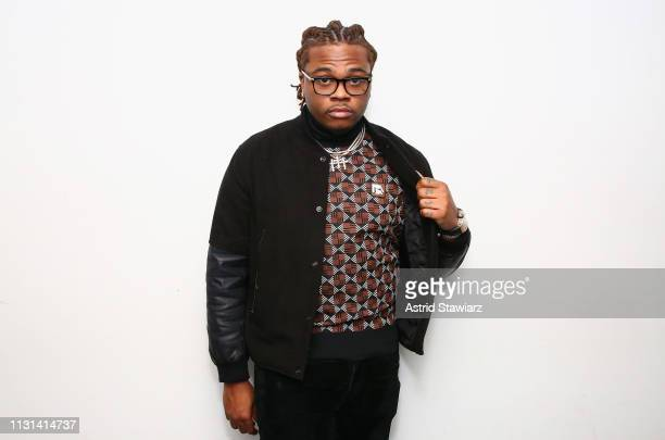 Rapper Gunna visits the SiriusXM Studios on February 22 2019 in New York City