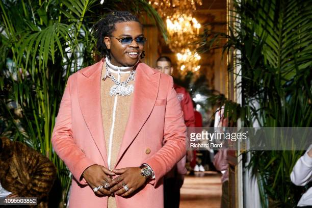 Rapper Gunna walks the runway during the Casablanca Menswear Fall/Winter 20192020 show as part of Paris Fashion Week on January 17 2019 in Paris...
