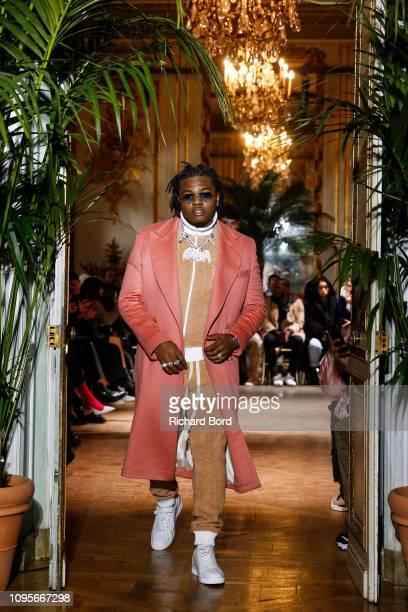Rapper Gunna walks the runway during the Casablanca Menswear Fall/Winter 20192020 show as part of Paris Fashion Week on January 17 2019 in Paris...