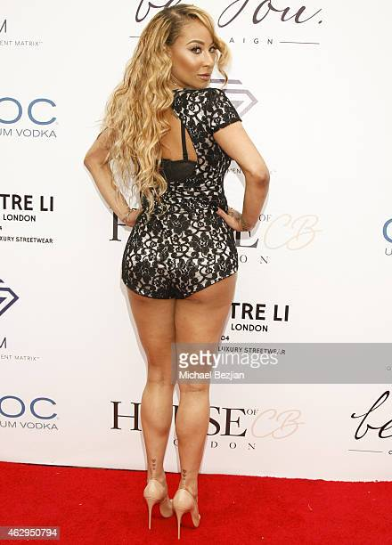 Rapper Hazel E attends House Of CB House Of Tre Li Pre Grammy Party on February 7 2015 in Los Angeles California