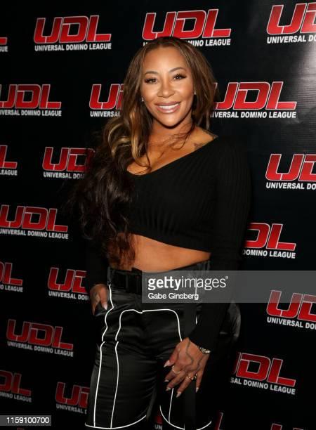 Rapper HazelE attends Universal Domino League's Las Vegas Summer Classic at Palms Casino Resort on June 29 2019 in Las Vegas Nevada