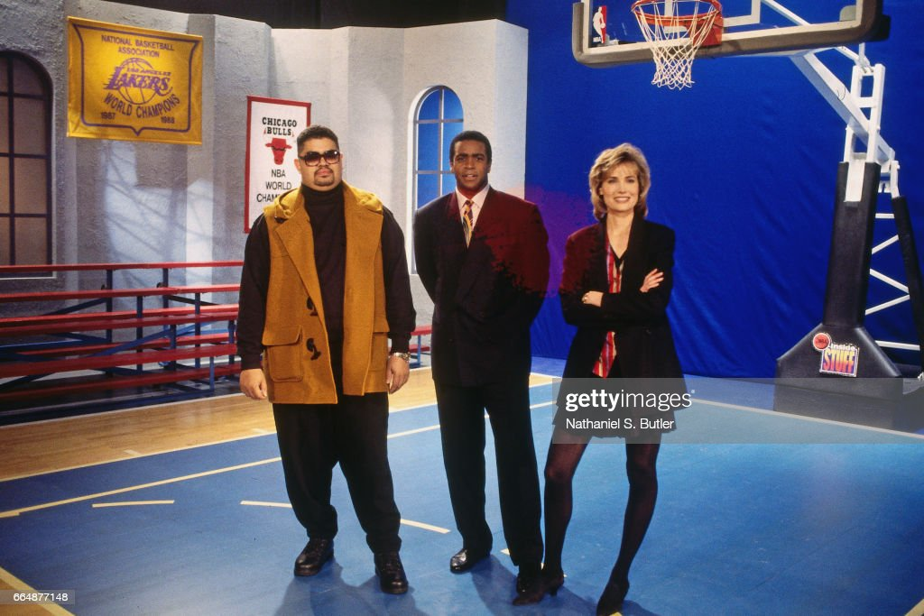 Rapper Heavy D  Ahmad Rashad And Willow Bay Pose During An