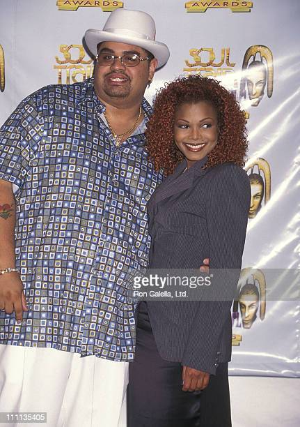 Rapper Heavy D and singer Janet Jackson attend the Third Annual Soul Train Lady of Soul Awards on September 5 1997 at Santa Monica Civic Auditorium...
