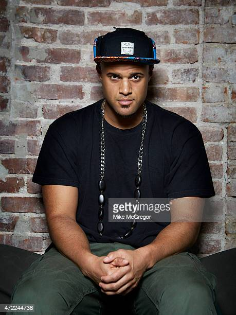 Rapper Homeboy Sandman is photographed for The Observer's The New Review on April 12 2015 in New York City