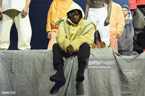 Rapper Ian Connor poses during Kanye West Yeezy Season 3 on February 11 2016 in New York City