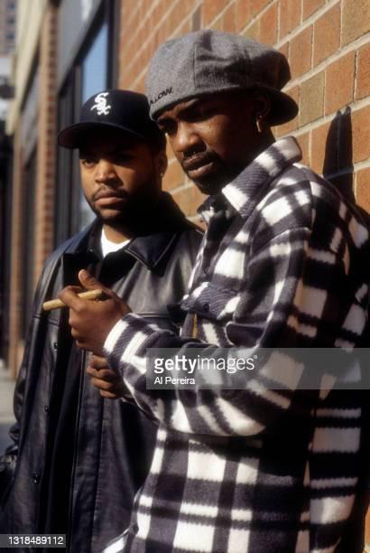 Rapper Ice Cube appears with K-Dee in a portrait taken on November 11, 1994 in New York City.