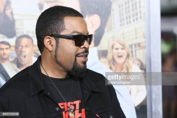 Rapper Ice Cube attends the premiere of Warner Bros Pictures' 'Fist Fight' at Regency Village Theatre on February 13 2017 in Westwood California