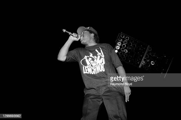 Rapper Ice Cube performs at The Arena in St. Louis, Missouri in August 1990.