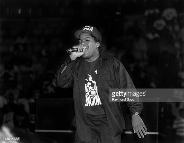 Rapper and actor Ice Cube performs at The Arena in St Louis Missouri in AUGUST 1990