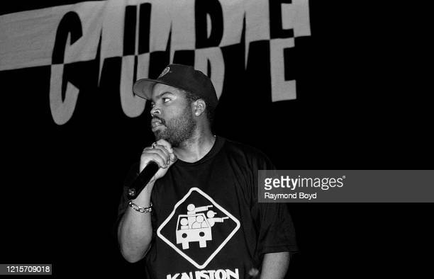 Rapper Ice Cube performs at the International Amphitheatre in Chicago, Illinois in April 1995.