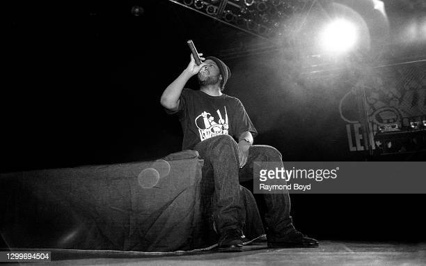 Rapper Ice Cube performs at the U.I.C. Pavilion in Chicago, Illinois in November 1990.