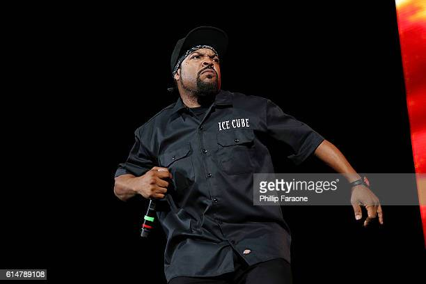 Rapper Ice Cube performs onstage at How The West Was Won at Irvine Meadows Amphitheatre on October 14, 2016 in Irvine, California.