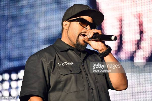 Rapper Ice Cube performs onstage during the KDay 935 Krush Groove concert at The Forum on April 21 2018 in Inglewood California