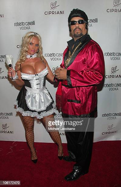 Rapper Ice T and Coco arrive to Roberto Cavalli's Halloween Party at Cipriani 42nd Street in New York City on October 31 2007