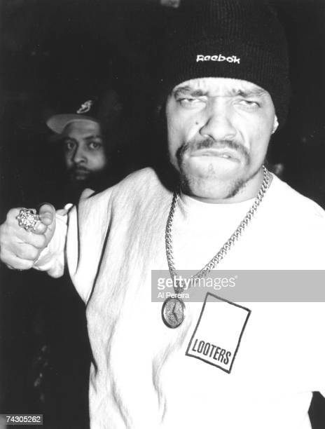 Rapper Ice T mugs for the camera in circa 1996 in New York City New York Photo by Al Pereira/Michael Ochs Archives/Getty Images