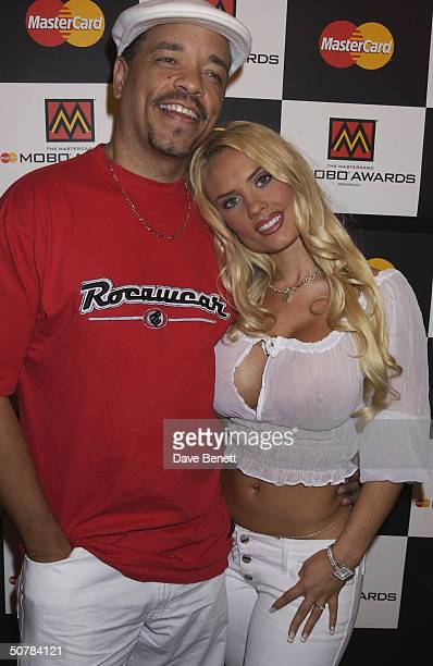Rapper Ice T with partner Coco at the MOBO Award Nominations held at the Mayfair Club on 2nd September 2002 in London