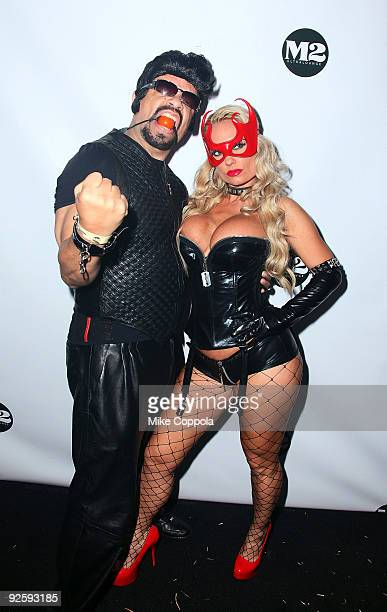 Rapper Ice-T and Coco attends a Halloween celebration at M2 Ultra Lounge on October 31, 2009 in New York City.