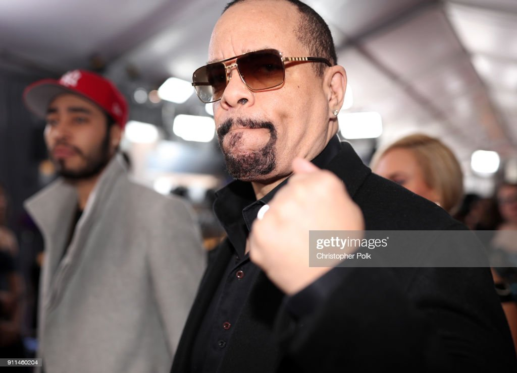 Rapper Ice-T attends the 60th Annual GRAMMY Awards at Madison Square Garden on January 28, 2018 in New York City.