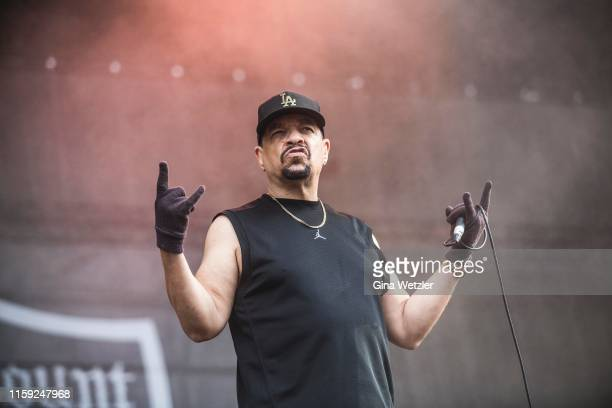 Rapper Ice-T of Body Count performs live on stage during the second day of the Wacken Open Air festival on August 2, 2019 in Wacken, Germany. Wacken...
