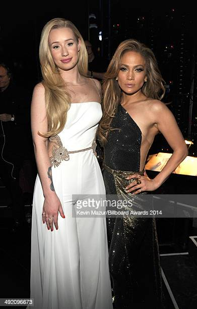 Rapper Iggy Azalea and singer Jennifer Lopez attend the 2014 Billboard Music Awards at the MGM Grand Garden Arena on May 18 2014 in Las Vegas Nevada