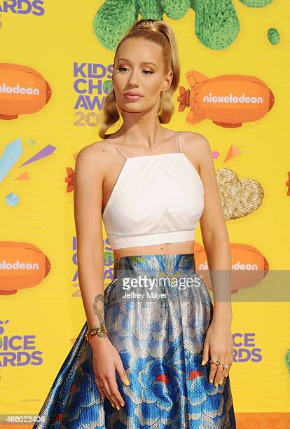 Rapper Iggy Azalea attends Nickelodeon's 28th Annual Kids' Choice Awards held at The Forum on March 28 2015 in Inglewood California