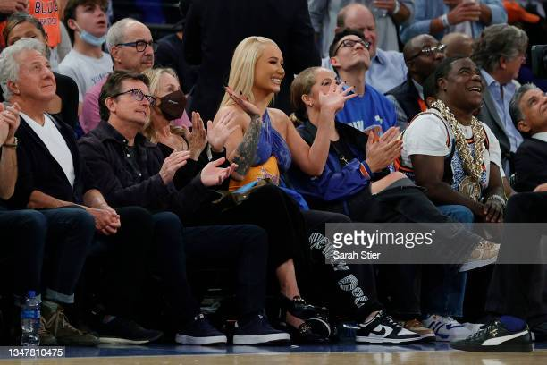 Rapper Iggy Azalea attends the game between the Boston Celtics and the New York Knicks at Madison Square Garden on October 20, 2021 in New York City....