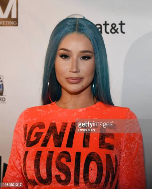 Rapper Iggy Azalea attends the WNBA All-Star Game 2019 beach concert at the Mandalay Bay Beach at Mandalay Bay Resort and Casino on July 26, 2019 in...