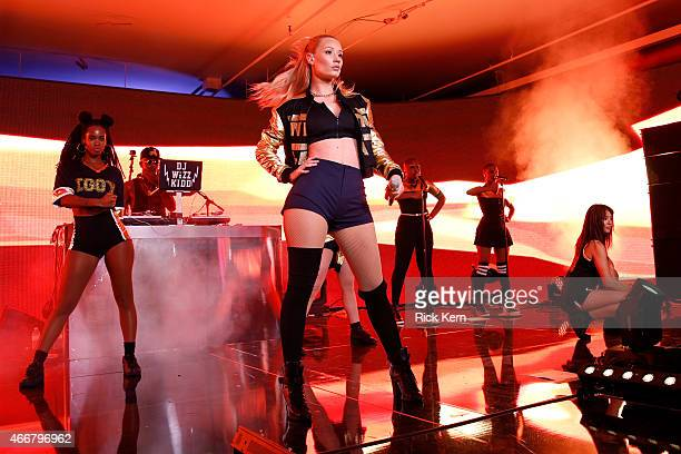 Rapper Iggy Azalea performs onstage at the Samsung Milk Music Lounge featuring Iggy Azalea on March 18, 2015 in Austin, Texas.