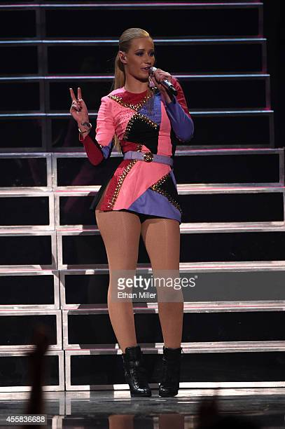 Rapper Iggy Azalea performs onstage during the 2014 iHeartRadio Music Festival at the MGM Grand Garden Arena on September 20, 2014 in Las Vegas,...