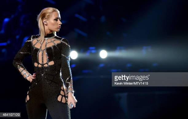 Rapper Iggy Azalea performs onstage during the 2014 MTV Video Music Awards at The Forum on August 24, 2014 in Inglewood, California.