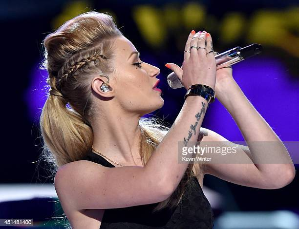 Rapper Iggy Azalea performs onstage during the BET AWARDS '14 at Nokia Theatre L.A. LIVE on June 29, 2014 in Los Angeles, California.