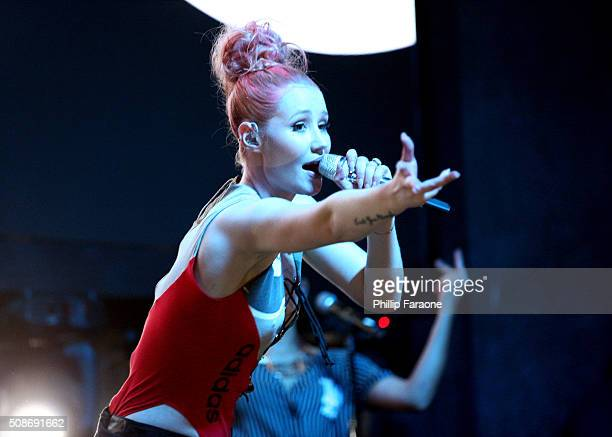 Rapper Iggy Azalea performs onstage during the Sports Illustrated Experience Friday Night Party on February 5 2016 in San Francisco California